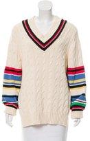 Preen V-Neck Patterned Sweater