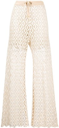 ZEUS + DIONE Layered Crochet Trousers