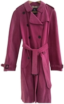 Burberry Pink Suede Trench coat
