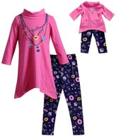 Dollie & Me Girls 4-14 Faux Necklace Dress & Leggings Set
