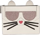 Karl Lagerfeld Shell Cat Clutch