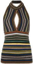 Missoni striped knitted top - women - Nylon/Polyester/Spandex/Elastane/Viscose - 38