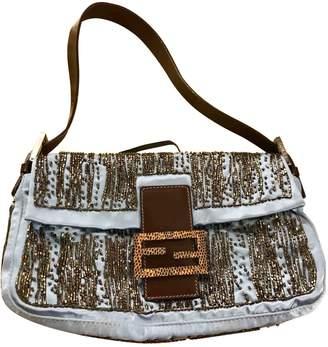 Fendi Baguette Blue Python Handbags