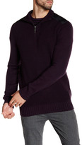 Kenneth Cole New York Nylon Contrast Half Zip Sweater