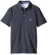 Nautica Men's Slim Fit Short Sleeve Striped Polo Shirt