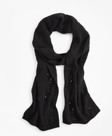 Brooks Brothers Pointelle Cable-Knit Cashmere Scarf