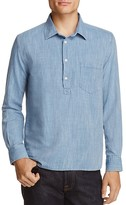 Solid & Striped Linen Regular Fit Popover Shirt
