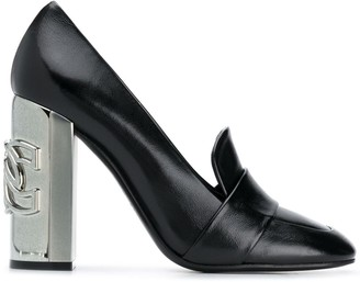Casadei 110mm Logo-Plaque Block Pumps