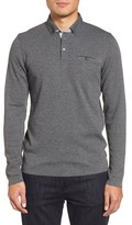 Ted Baker Men's Yamway Modern Slim Fit Long Sleeve Polo