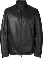 Canali reversible leather hunter jacket - men - Lamb Skin/Polyester - 50