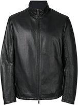 Canali reversible leather hunter jacket