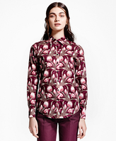 Brooks Brothers Petite Tulip-Print Shirt