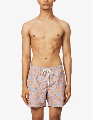 Far Afield Floral-print organic-cotton and linen-blend shirt