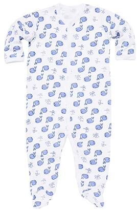 Roller Rabbit Moby Footie Pajamas (Infant) (Blue) Kid's Jumpsuit & Rompers One Piece