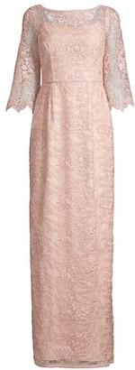 Aidan Mattox Lace illusion Gown