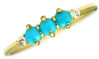 Ila Felicia 14K Yellow Gold, Diamond & Turquoise Ring