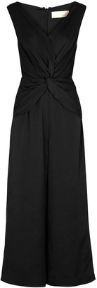 Keepsake These Days black satin jumpsuit