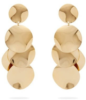 Isabel Marant Hammered Disc Drop Earrings - Womens - Gold