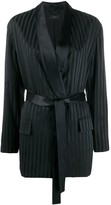 Joseph striped belted blazer