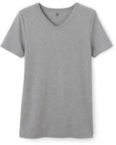 Petit Bateau Mens V-neck T-shirt in plain cotton