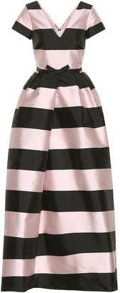 Rochas Striped maxi dress