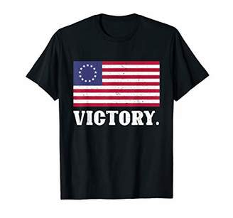 God Bless America Betsy Ross Flag 1776 4th of July Patriotic T-Shirt