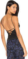 KENDALL + KYLIE Cami Bodysuit in Black. - size L (also in M,XS)