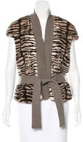 Saks Fifth Avenue Mink & Cashmere Belted Sweater