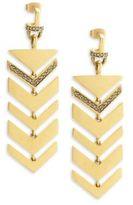 Paige Novick Crystal Geometric Drop Earrings