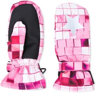Molo Kids Square print padded mittens