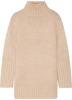 Protagonist Oversized Silk, Mohair, Wool And Cashmere-blend Turtleneck Sweater - Beige