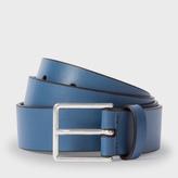 Paul Smith Men's Dark Navy Leather Belt