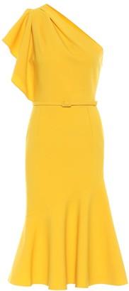 Oscar de la Renta Wool-blend crApe midi dress