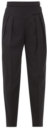 RED Valentino High-rise Pleated Crepe Trousers - Black