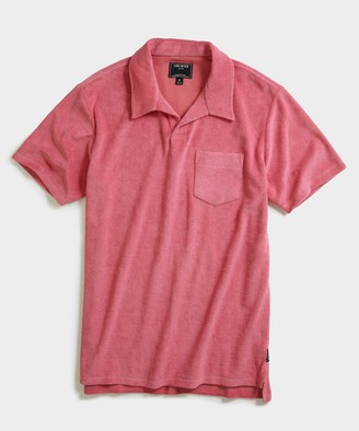 Todd Snyder Terry Montauk Polo in Pink