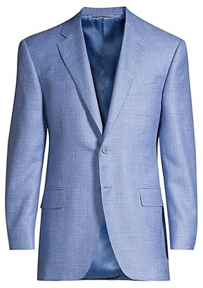 Canali Houndstooth Woven Wool Sport Coat