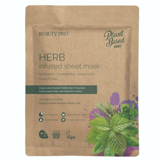 BeautyPRO Herb Infused Sheet Face Mask