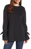 Halogen Women's Tie Sleeve Sweatshirt