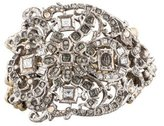 Christian Lacroix Crystal Cluster Stretch Bead Bracelet