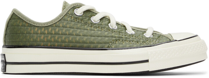 Thumbnail for your product : Converse Khaki Rubber Chuck 70 OX Sneakers