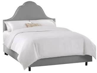 Skyline Furniture Wynona Upholstered Standard Bed Size: Twin, Color: Shantung Silver
