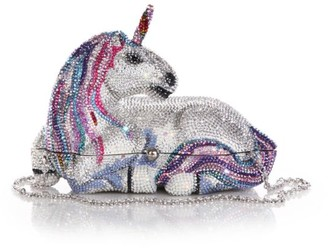 Judith Leiber Couture Unicorn Crystal Clutch
