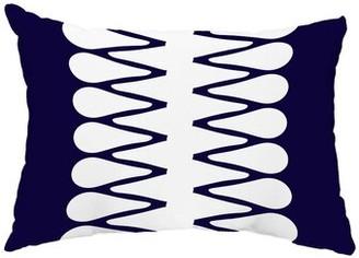 Bosley Wrought Studio Zipped Indoor/Outdoor Lumbar Pillow Wrought Studio Color: Blue