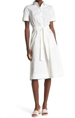 Paul & Joe Sister Octavia Tie Waist Poplin Midi Shirt Dress