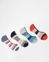 Jack & Jones Trainer Socks 4 Pack Stripe