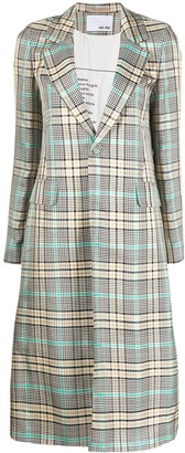 Each X Other Fluid checked coat