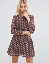 Goldie Desert Drive Tea Dress With Trim Details