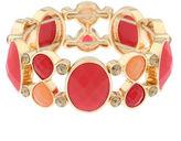 Liz Claiborne Orange Stone and Gold-Tone Stretch Bracelet