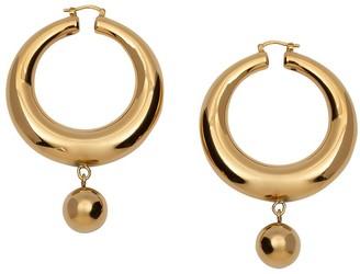 J.W.Anderson Hoop And Ball Earrings