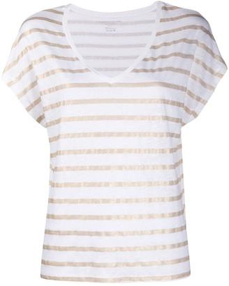Majestic Filatures metallic striped T-shirt